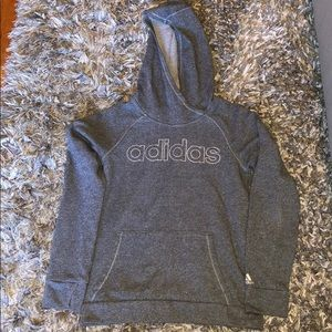 Adidas hooded sweatshirt with silver specs